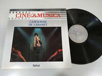 """Canciones de Cabaret Soundtrack Lizza Minelli 1987 - LP vinyl 12 """" VG/VG"""