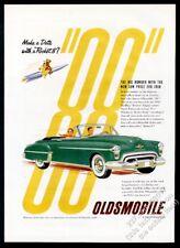 1950 Oldsmobile Rocket 88 convertible green car classic art vintage print ad
