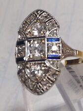 DIAMOND SAPPHIRE RING 14K