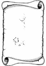 Card-io COLLECTION 3 Clear Stamps TORN PAPER SCROLL CCSTTOR-02