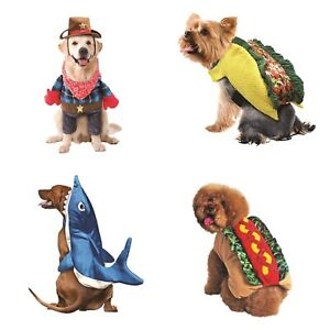 Way to Celebrate Halloween Dog Costumes Taco-Shark-Cowboy-Hotdog --Choice of One