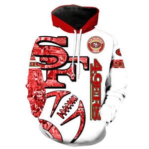 San Francisco 49ers Football Hoodies Men's 3D Print Pullover Hooded Sweatshirt