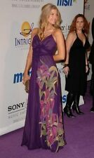Karen Millen Purple Tropical Sequin Embelished Maxi Dress SIZE:UK 6, EU 34, US 2
