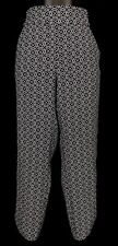 JACQUI E Black White Geo Print Pockets Pull On Tapered Cropped Pants Size 8