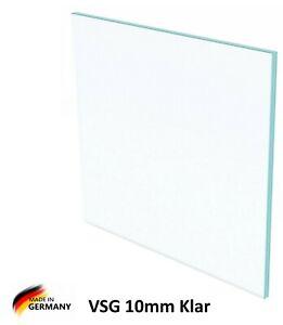 VSG Verbundsicherheitsglas 10mm Stärke-Klare Glasplatte,Glasscheibe Vordach Glas