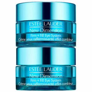 Estee Lauder New Dimension Firm + Fill eye System .34oz Steps 1 & 2 Included NIB