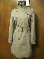 Burberry Long Kensington Trench Coat US 2 Honey NWT