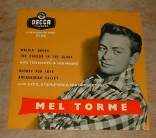 Mel TORME Walkin 'Chaussures * Hooray for love 1957 uk decca mono tri-centre PS EP