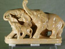 RARE- Roseville? American Art Pottery Elephant Family Planter Vase