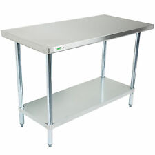 30 X 48 Stainless Steel Work Prep Shelf Table Commercial Restaurant Nsf