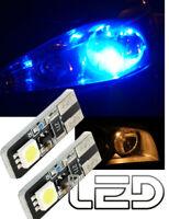 2 Ampoules LED Bleu T10 W5W Veilleuses Feux Position anti Erreur odb Canbus