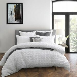 Private Collection Upton White Duvet Doona Quilt Cover Set 3 Sizes