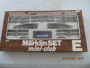 8191 Expansion Set E Märklin Track Set Mini Club Z Gauge In Great Shape