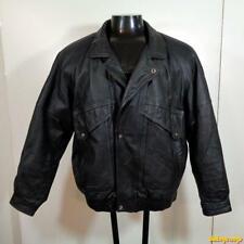 ADLER Soft Leather JACKET Coat Mens Size XL Black insulated zippered