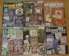 Lot of 6 Rubber Stamping Magazines Stamping Arts & Crafts The Stamper's Stampler