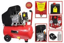 Compressore aria a cilindro serbatoio 25 litri motore 2 Hp 8 bar manometro 25 lt