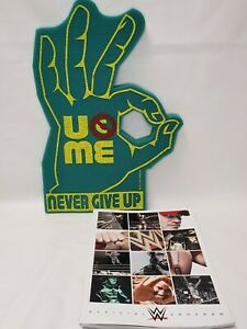 "2014 WWE Official Program John Cena 18"" Foam Hand Never Give Up"
