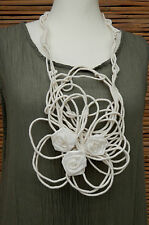 * Zuza Bart * Design Biancheria incredibile bellissime APPLIQUE COLLO SCIARPA COLLANA * Crema *