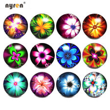 12pcs 18mm Snap Button Dreaming Flower Glass Snap Charms For Snap Jewelry 0999