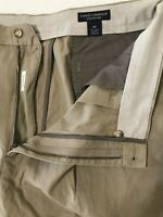 "Daniel Cremieux 40 x 9"" Monaco Khaki 100% Pima Cotton Pleated Shorts"
