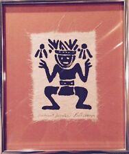 Serigraph Print Handmade Paper Ancient Juggler Ruth Anaya Signed Original Frame