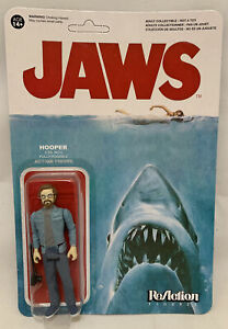 FUNKO REACTION action figure MOC JAWS Spielberg Movie HOOPER Cult Classic SEALED