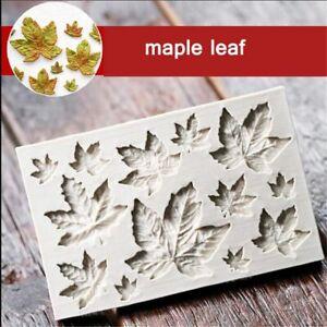 DIY Chocolate Shaping Maple Leaves Mould Silicone Fondant Mold Cake Decor