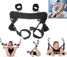 Bondage Strap System 4 Way Handcuffs Restraint Kits Fetish Collar Ankle Sex Toys