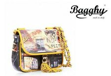 Borsa donna Bagghy Patty Moulin Rouge 01 giallo. Listino € 169,00