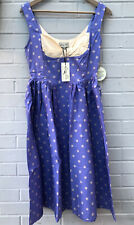 NEW Lindybop Emery Purple polka dot dress size 10 Pinup Retro BNWT Lavender