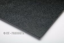 "ABS Plastic Sheet Black Vacuum Forming 1/8"" Thick 24"" x 24"" - 251e"