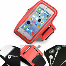 Red Sports Armband Phone Case Cover Gym Running FOR Alcatel 3 (2019)