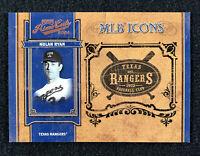 2004 Playoff Prime Cuts MLB Icons Nolan Ryan #7/50 - Rangers