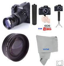 PRO HD TELEPHOTO LENS + STABLE GRIP FOR CANON EOS REBEL  SL1 SL2  XT XSI XTI 20D