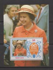 QEII Queen Elizabeth 60th Birthday 1986 MNH Stamp Sheet St Lucia 1st issue