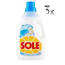 3 Sole Waschmittel Wolle &  zarte Kleidung Carezza di talco 1lt Reinigung Talcum