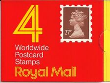 1988 Go QE2 ROYAL MAIL 4 x 27P Definitive STAMP BOOKLET GF1 Round TAB T code
