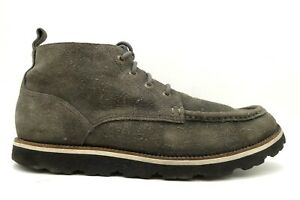 Cole Haan Air Gray Distressed Suede Moc Toe Lace Up Ankle Boots Shoes Men's 11 M