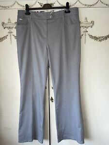 Size 16 Silver Per Una Trousers In Excellent Condition