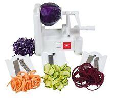 Stainless 3-Blade Vegetable Slicer / Spiralizer, Counter-Mounted & BPA Free