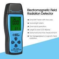 LCD EMF Tester Electromagnetic Field Radiation Detector Meter Dosimeter Tester