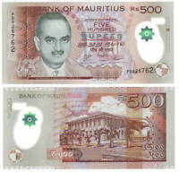UNC MAURITIUS Polymer 500 Rupees (2016) P-66b