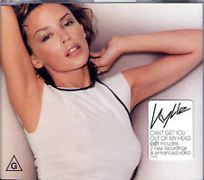 MAXI CD SINGLE 3T + VIDEO KYLIE MINOGUE CAN'T GET YOU OUT OF MY HEAD AUSTRALIE