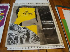 Vintage Art Poster: 1968 TAPISSERIES assemblages PEINTURES galerie creuzevault