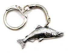 Salmon Fish Key-ring (keychain), Fine English Pewter, Handmade (tsh-L) Keyring