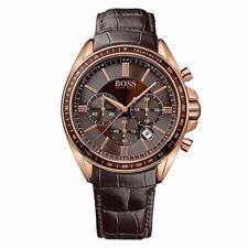 Hugo Boss 1513093 Chronograph Quarz Brown Leather Strap Analogue Herrenuhr