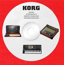 Korg Audio Repair Service owner manuals on 1 dvd in pdf format