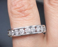 DEAL! 0.90CT NATURAL DIAMOND LADIES ENGAGEMENT WEDDING BAND RING IN 14K GOLD.