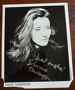 Emma Thompson signed photo