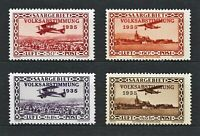 DR SAAR Rare WWII Stamps 1934 Airmail Plane Over Print Air Classic Avia Full Set